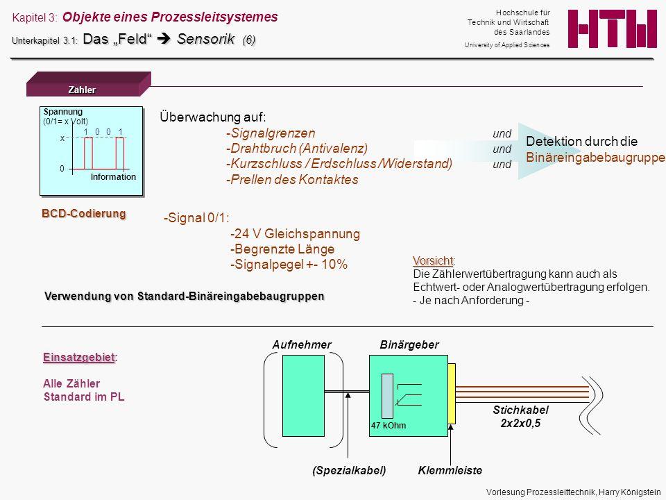 Drahtbruch (Antivalenz) und Kurzschluss / Erdschluss /Widerstand) und