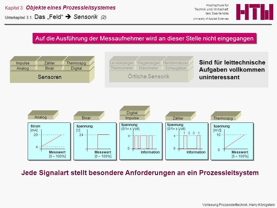 Jede Signalart stellt besondere Anforderungen an ein Prozessleitsystem