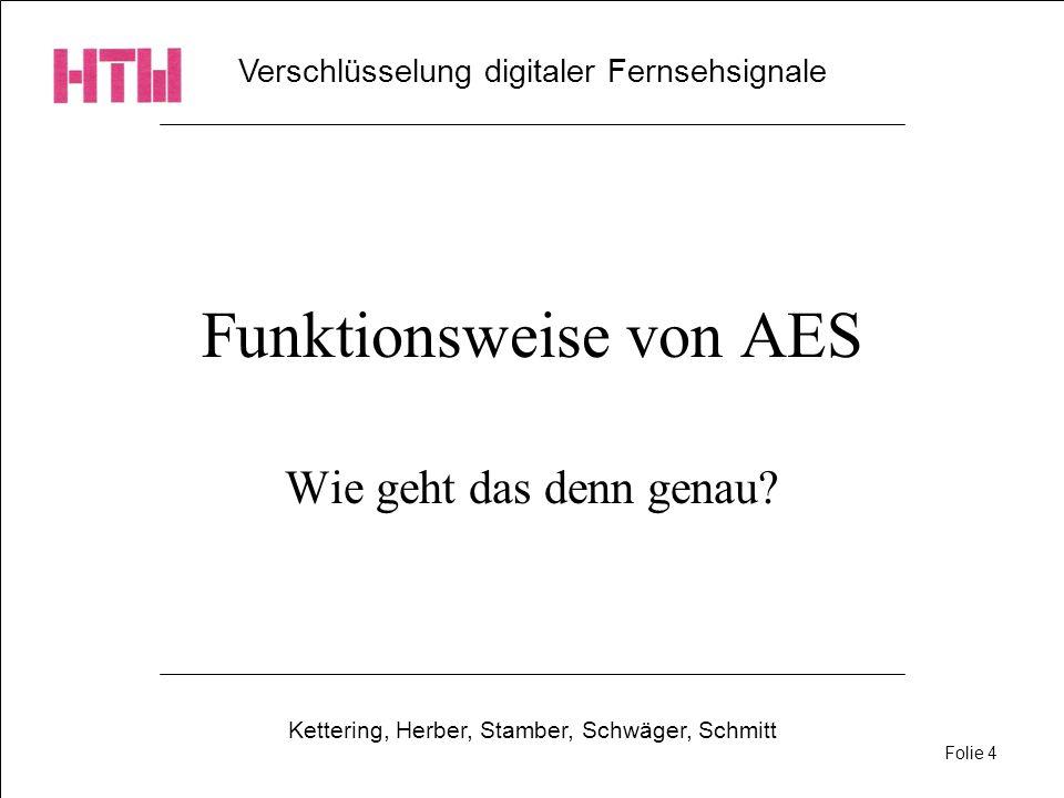 Funktionsweise von AES