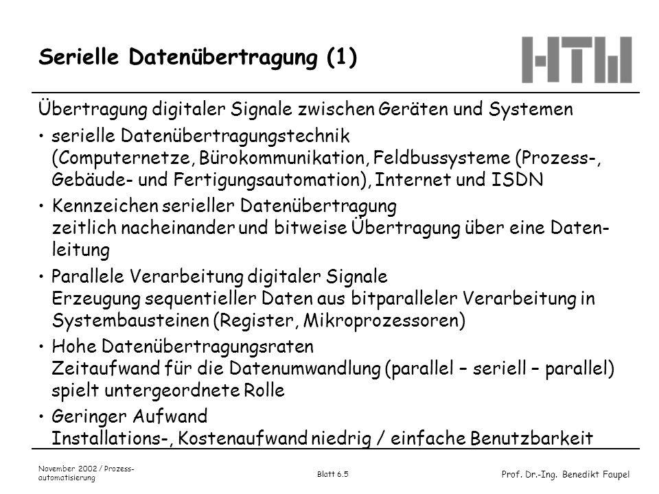 Serielle Datenübertragung (1)