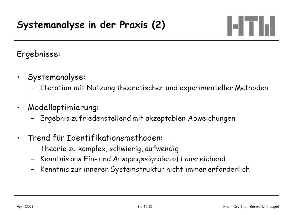 Systemanalyse in der Praxis (2)