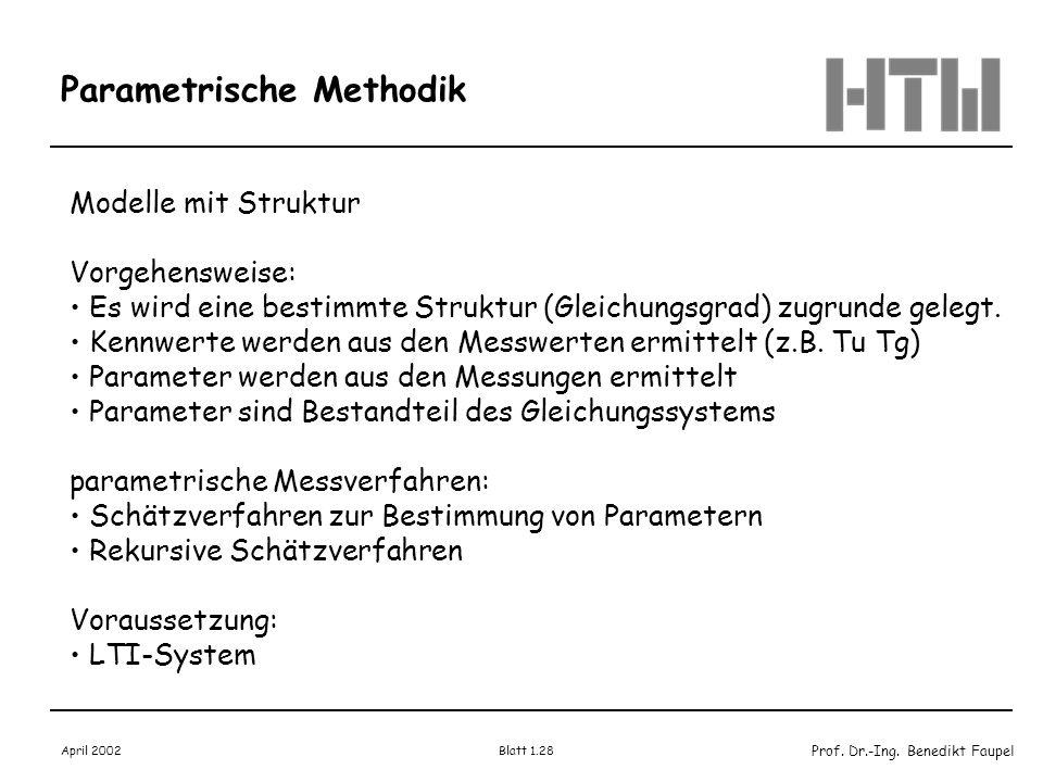 Parametrische Methodik