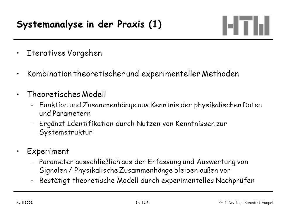Systemanalyse in der Praxis (1)