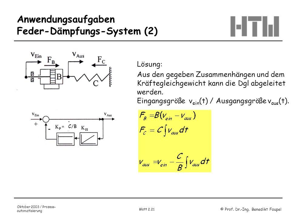 Anwendungsaufgaben Feder-Dämpfungs-System (2)