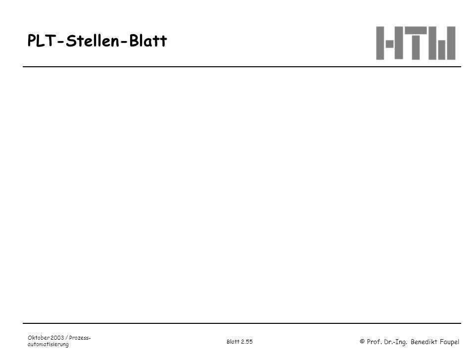 PLT-Stellen-Blatt Oktober 2003 / Prozess-automatisierung Blatt 2.55