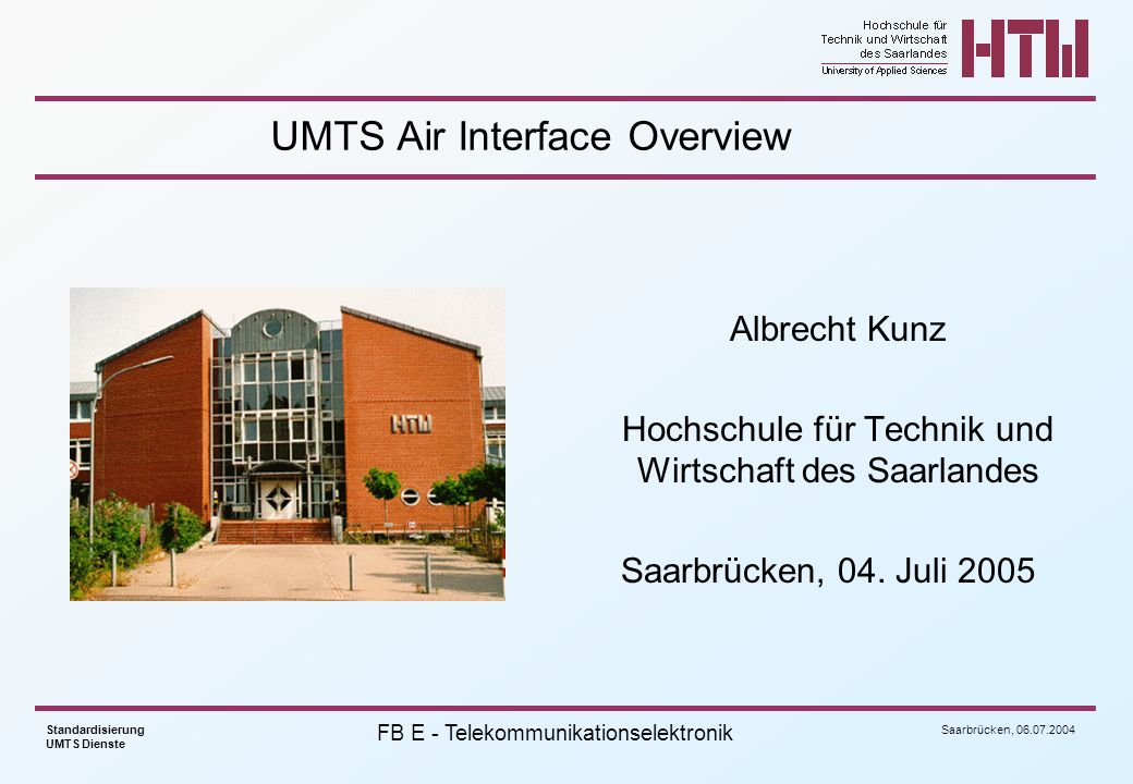 UMTS Air Interface Overview