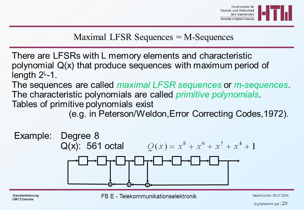 Maximal LFSR Sequences = M-Sequences