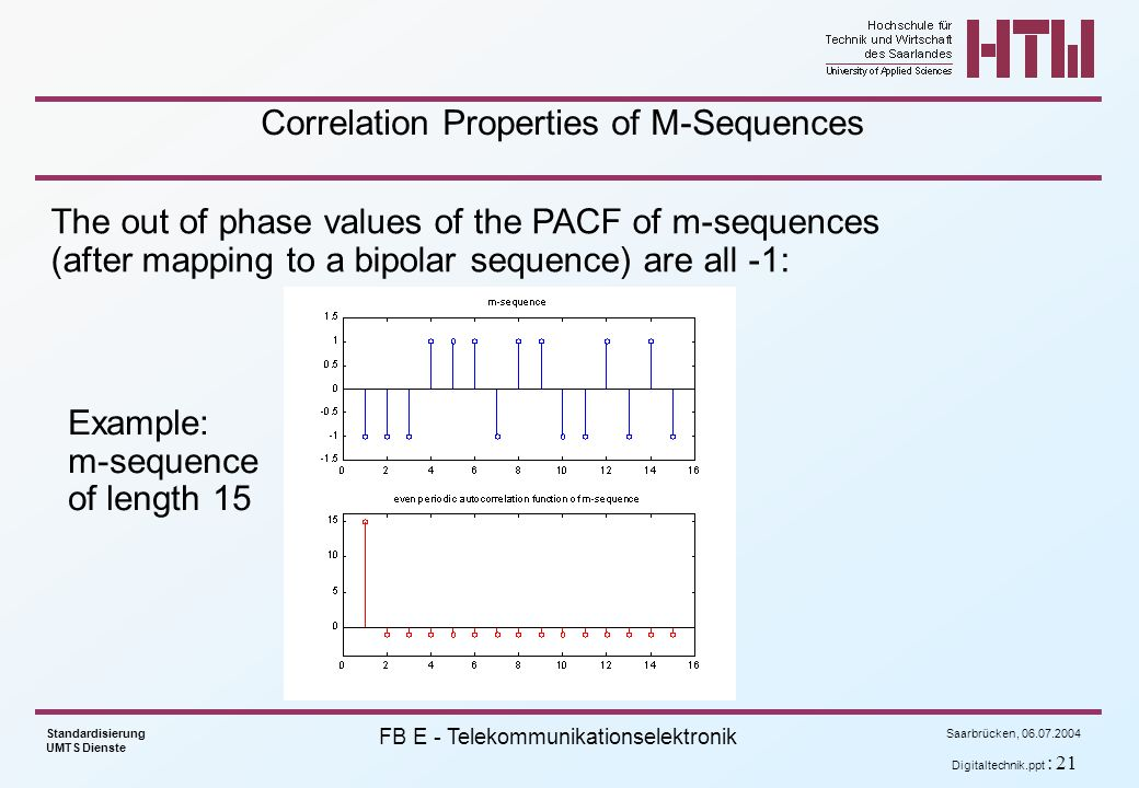 Correlation Properties of M-Sequences
