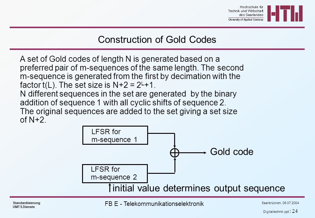 Construction of Gold Codes