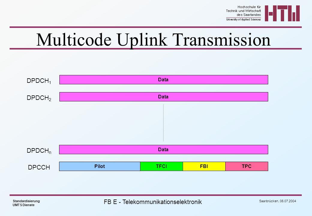 Multicode Uplink Transmission