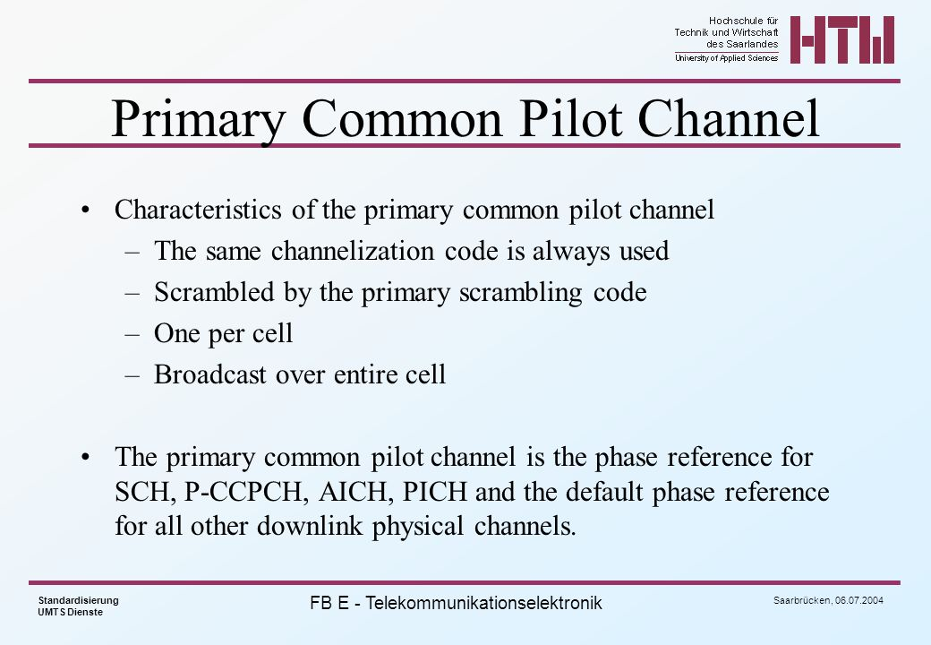 Primary Common Pilot Channel