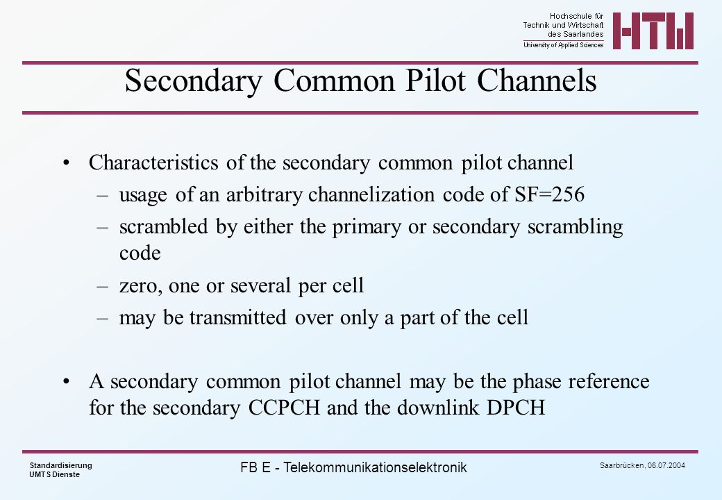 Secondary Common Pilot Channels