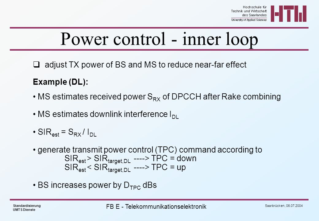 Power control - inner loop