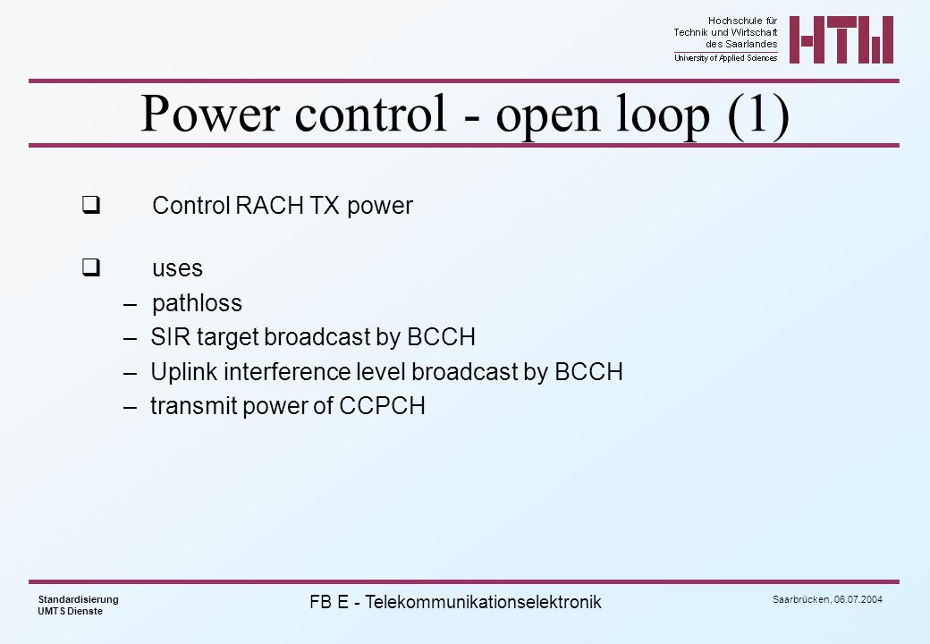 Power control - open loop (1)