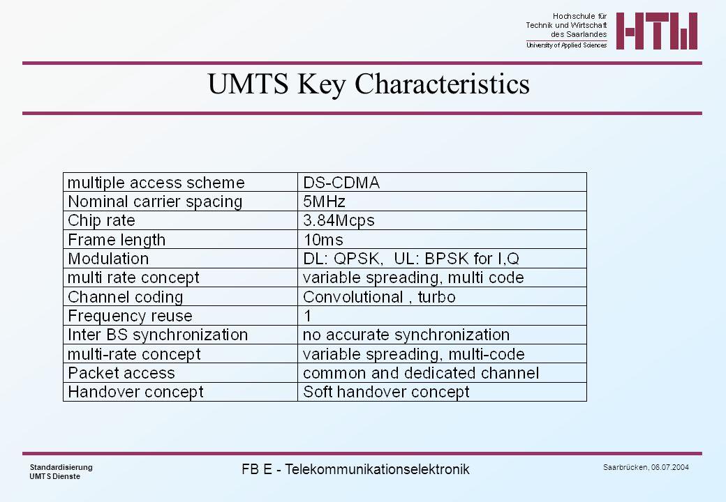UMTS Key Characteristics