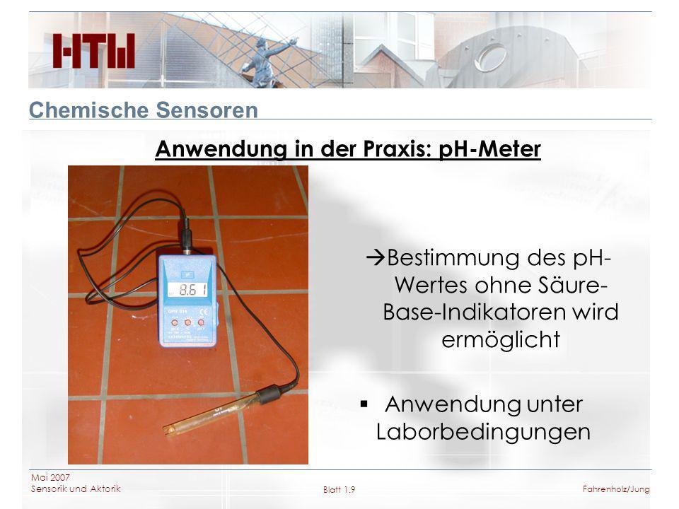 Anwendung in der Praxis: pH-Meter