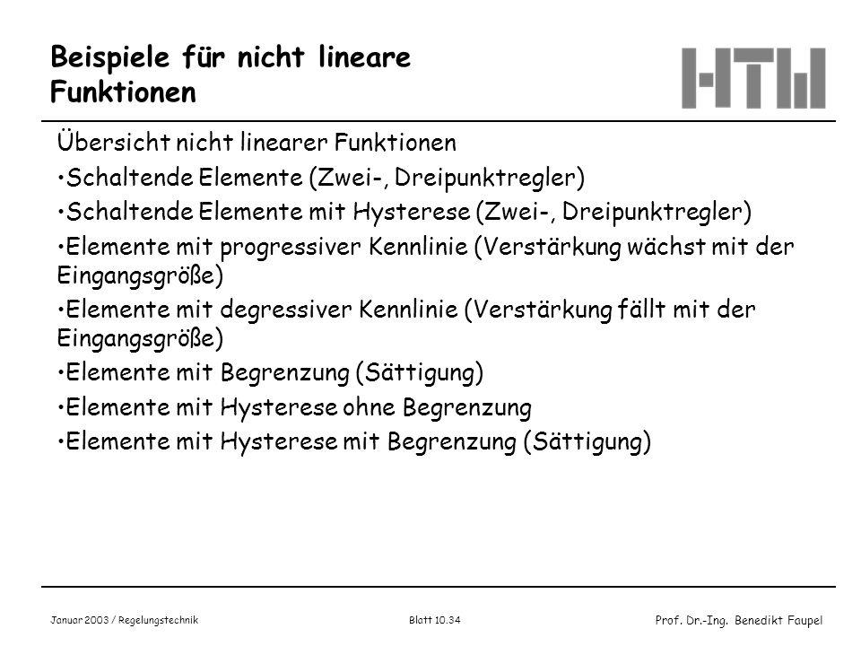 Beispiele für nicht lineare Funktionen