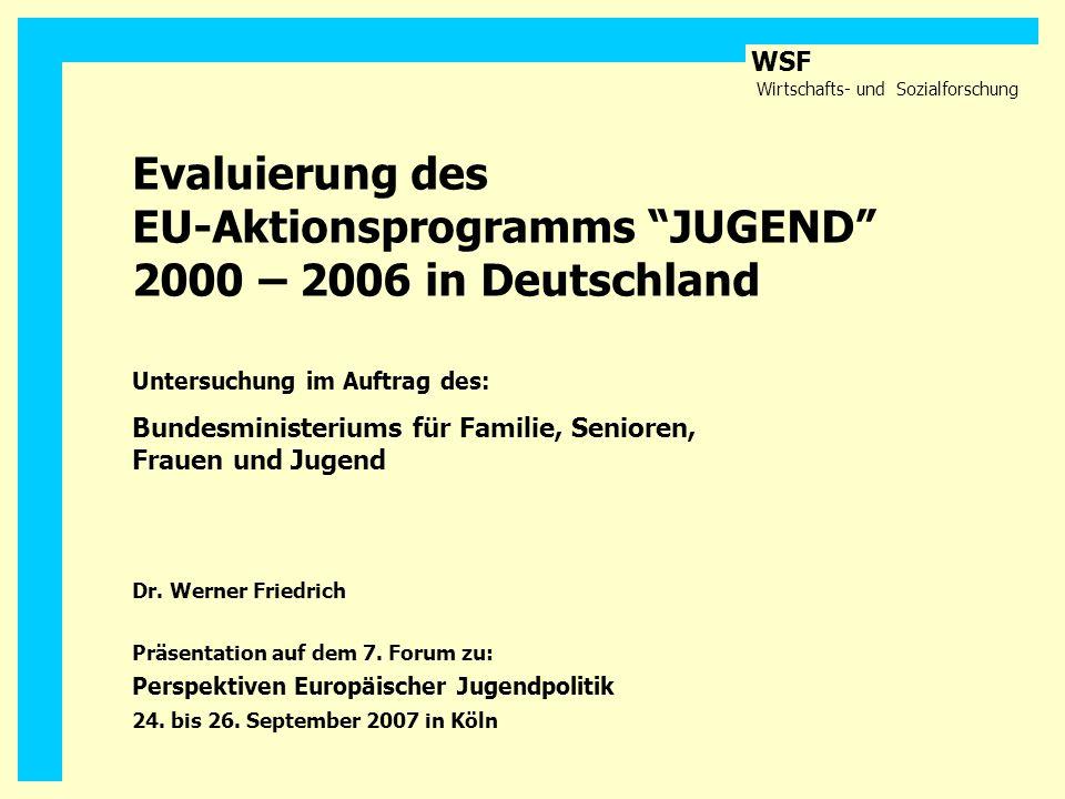 Evaluierung des EU-Aktionsprogramms JUGEND 2000 – 2006 in Deutschland