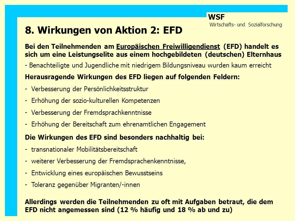 8. Wirkungen von Aktion 2: EFD