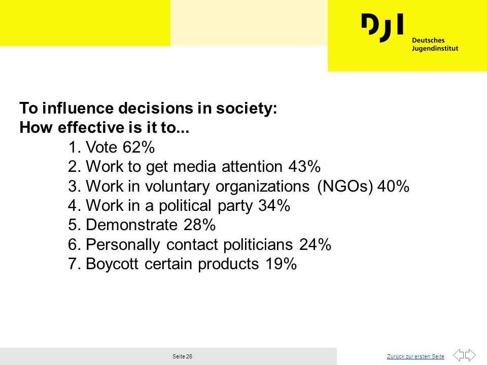 To influence decisions in society: