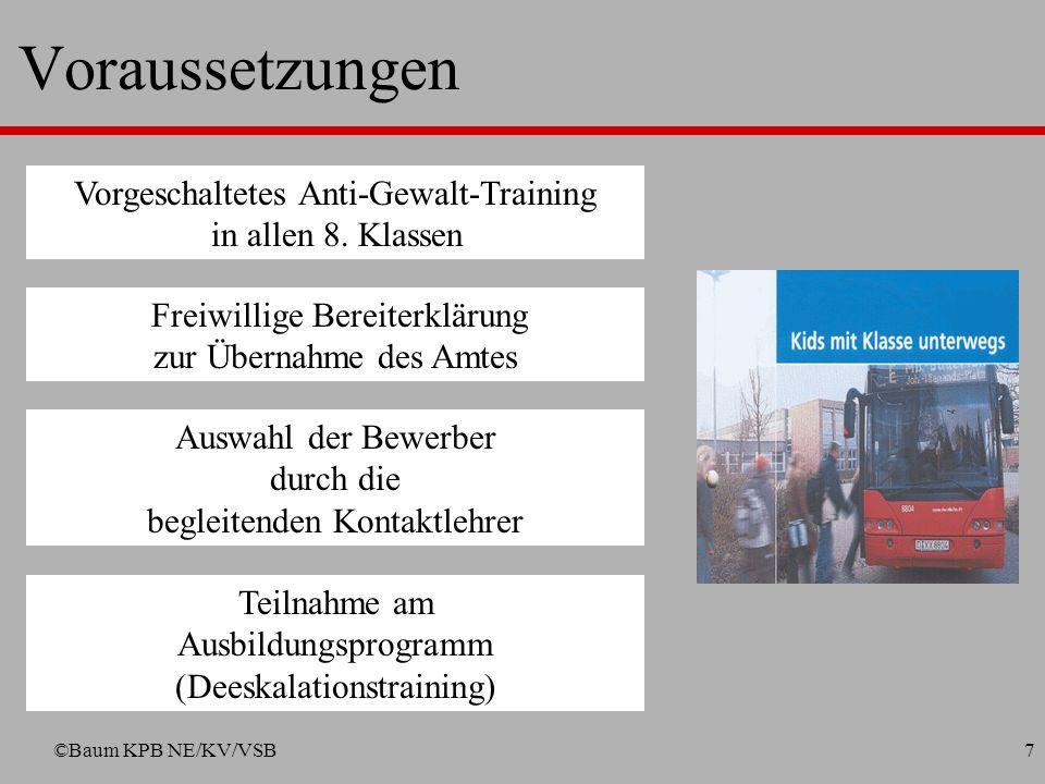 Voraussetzungen Vorgeschaltetes Anti-Gewalt-Training