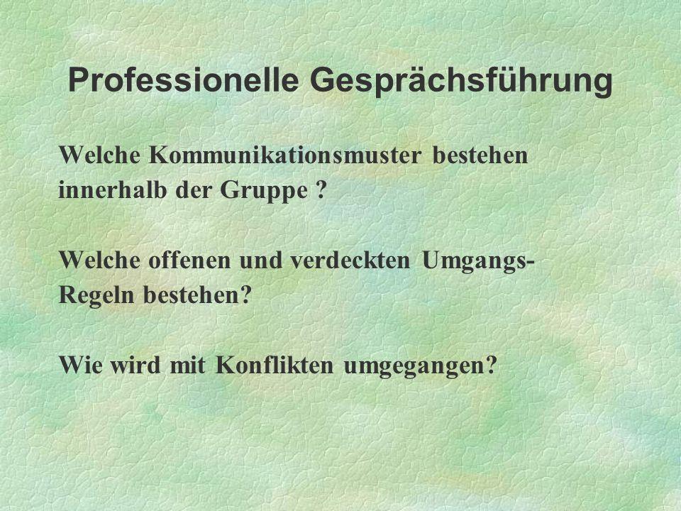 Professionelle Gesprächsführung