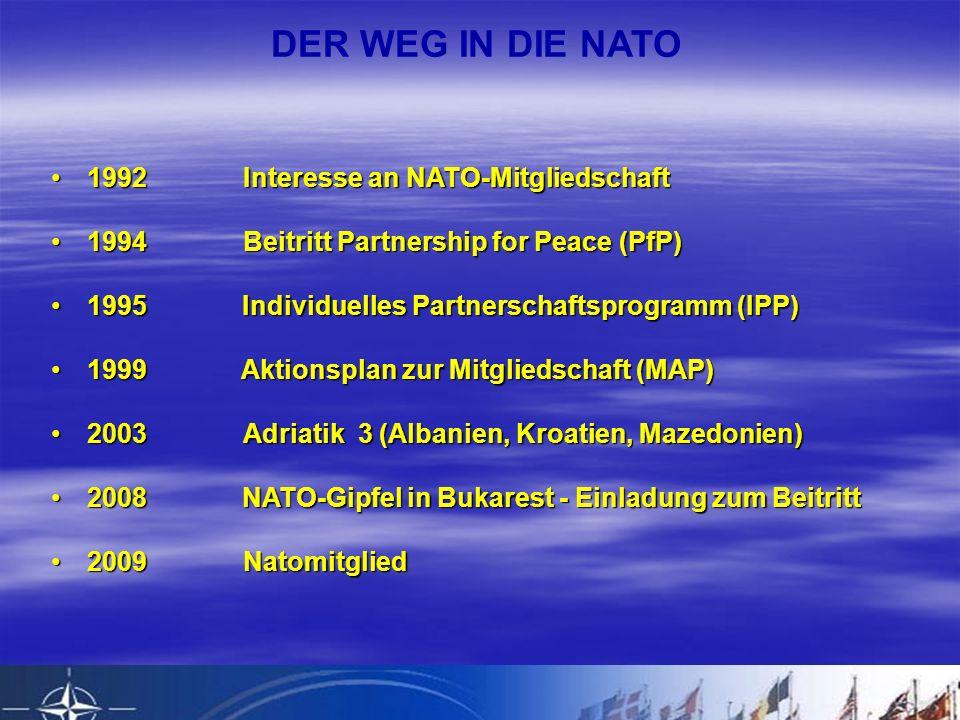 DER WEG IN DIE NATO 1992 Interesse an NATO-Mitgliedschaft