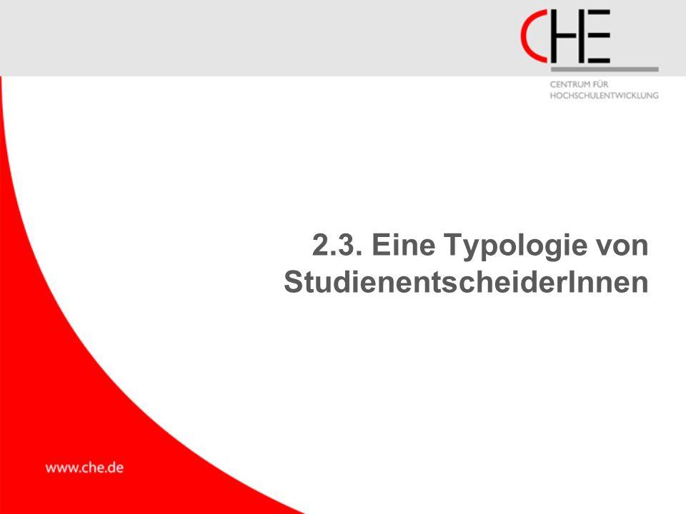 2.3. Eine Typologie von StudienentscheiderInnen
