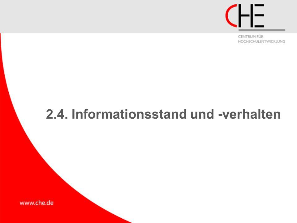 2.4. Informationsstand und -verhalten