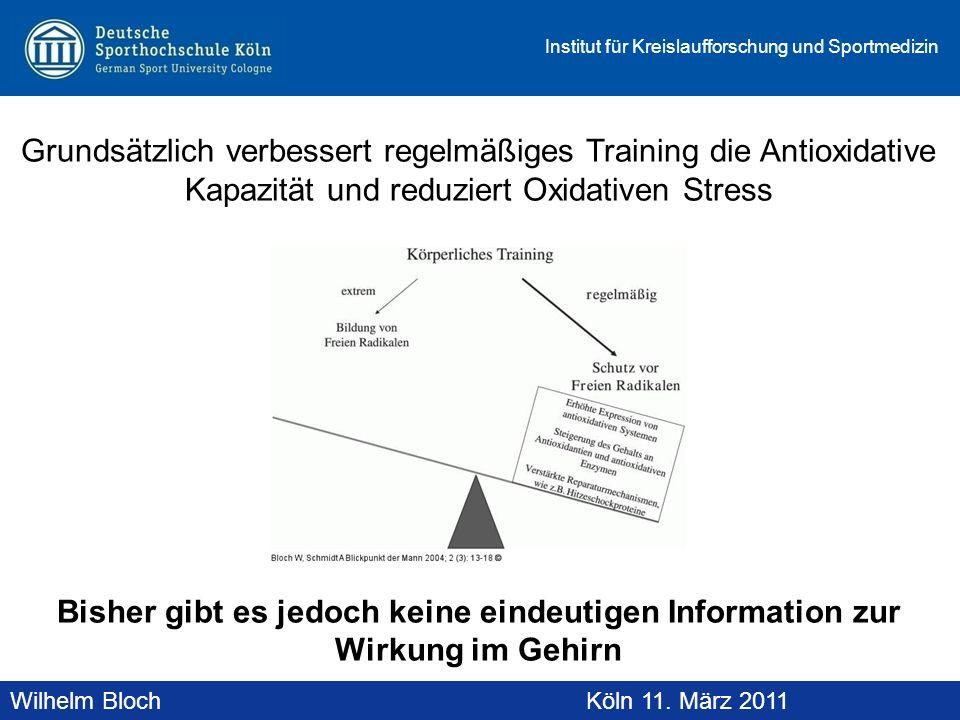 Grundsätzlich verbessert regelmäßiges Training die Antioxidative Kapazität und reduziert Oxidativen Stress