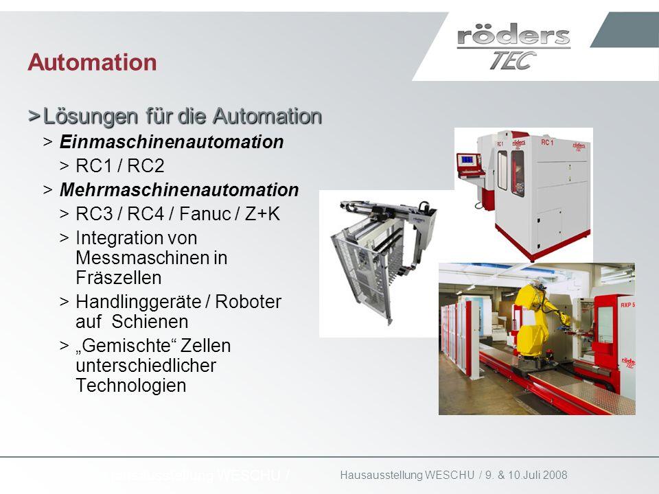 Automation Lösungen für die Automation Einmaschinenautomation