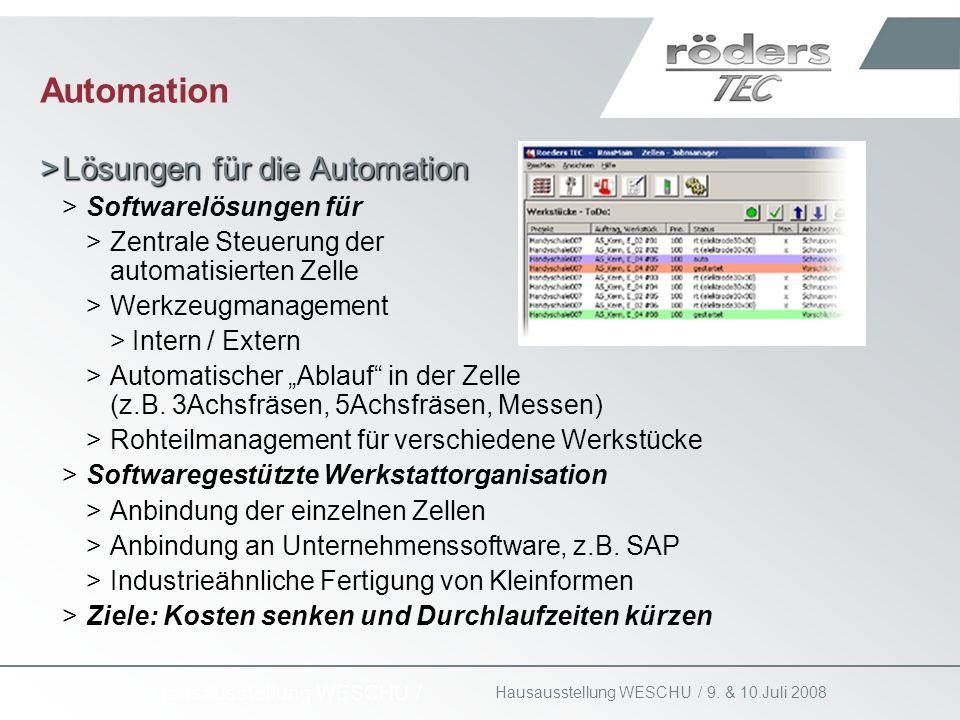 Automation Lösungen für die Automation Softwarelösungen für