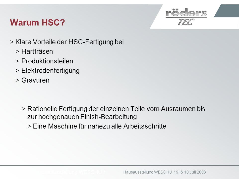 Warum HSC Klare Vorteile der HSC-Fertigung bei Hartfräsen