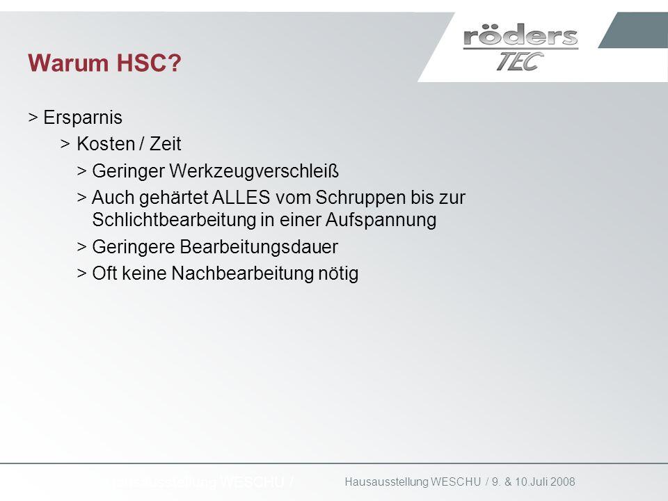 Warum HSC Ersparnis Kosten / Zeit Geringer Werkzeugverschleiß