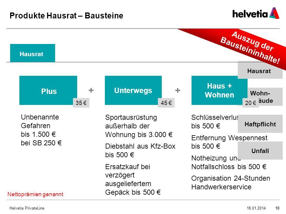 Produkte Hausrat – Bausteine