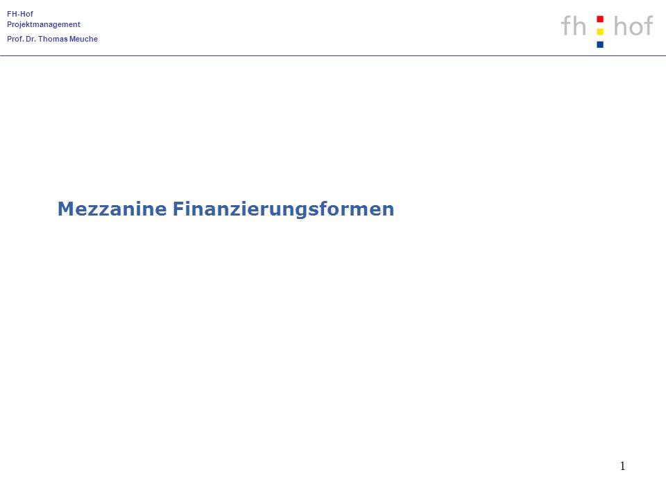 Mezzanine Finanzierungsformen