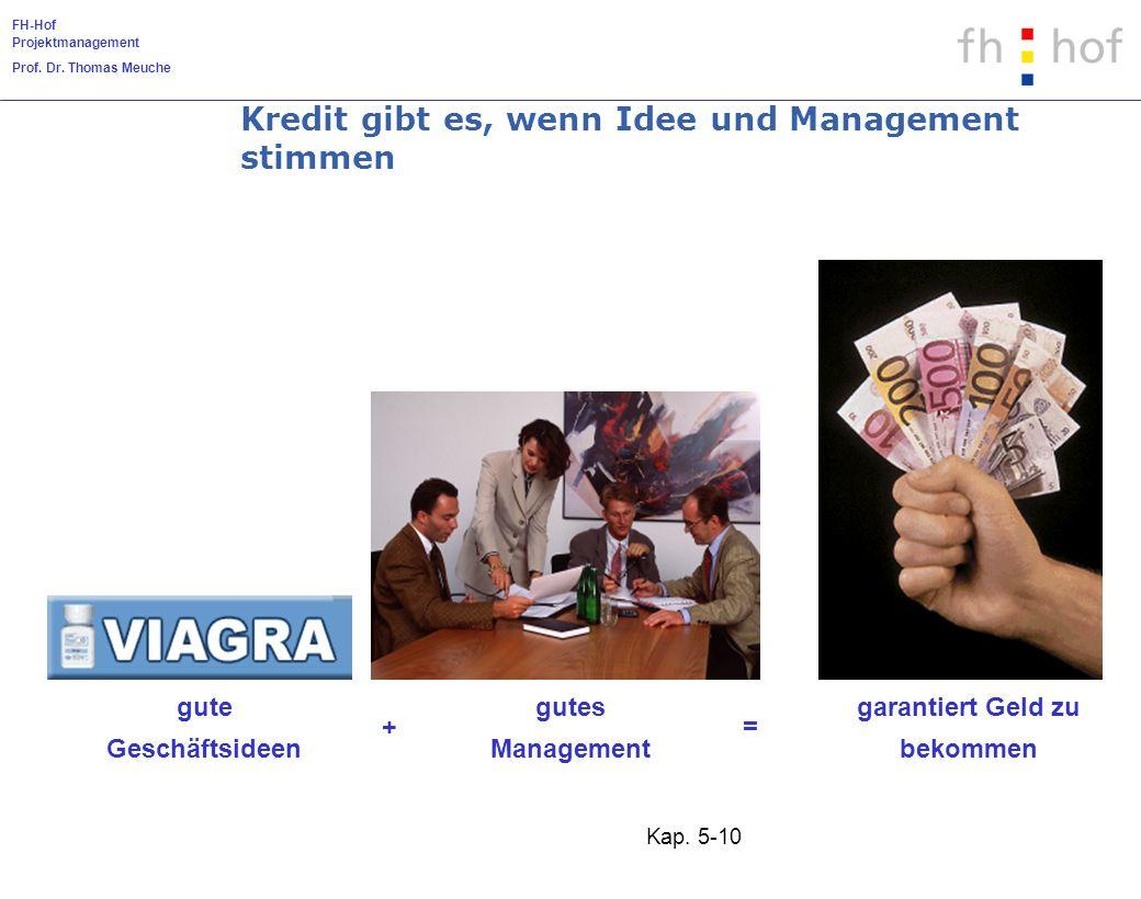 Kredit gibt es, wenn Idee und Management stimmen