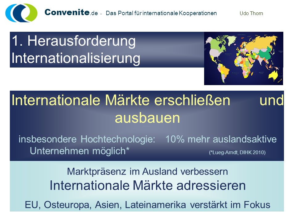 Internationale Märkte erschließen und ausbauen