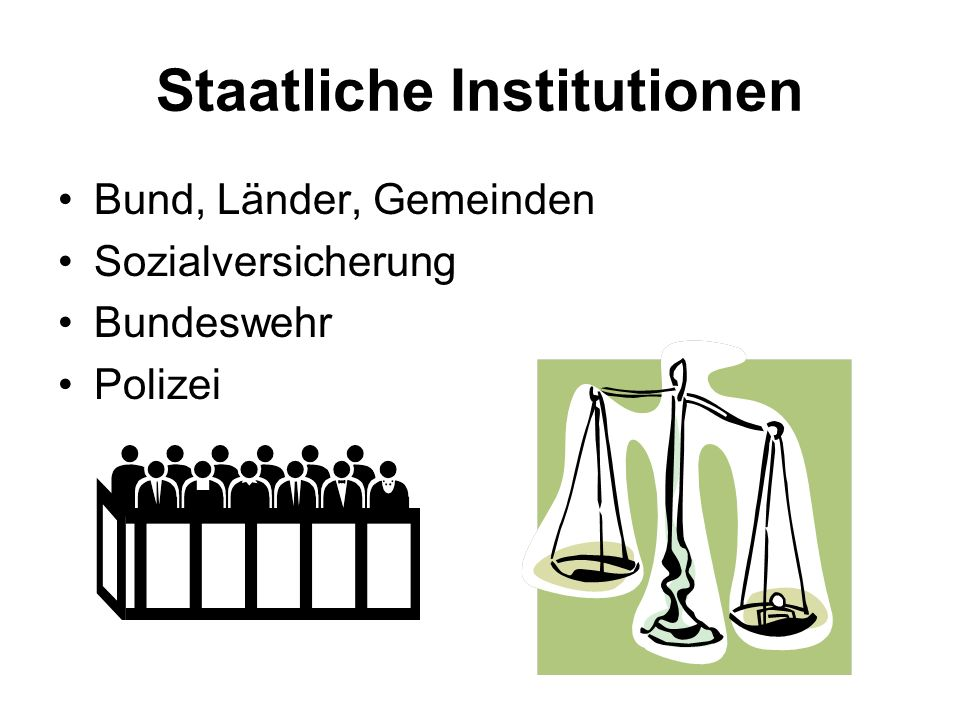 Staatliche Institutionen