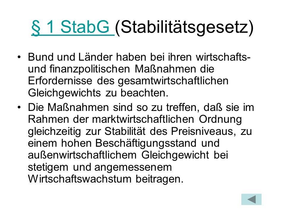 § 1 StabG (Stabilitätsgesetz)