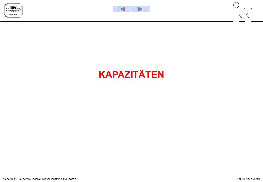 KAPAZITÄTEN Kaiser BRB-Baucontrol Ingenieurgesellschaft mbH München