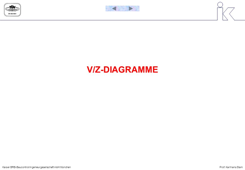 V/Z-DIAGRAMME Kaiser BRB-Baucontrol Ingenieurgesellschaft mbH München