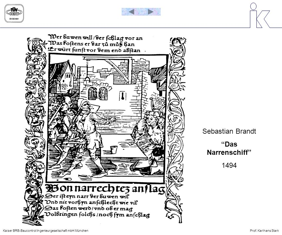 Sebastian Brandt Das Narrenschiff 1494
