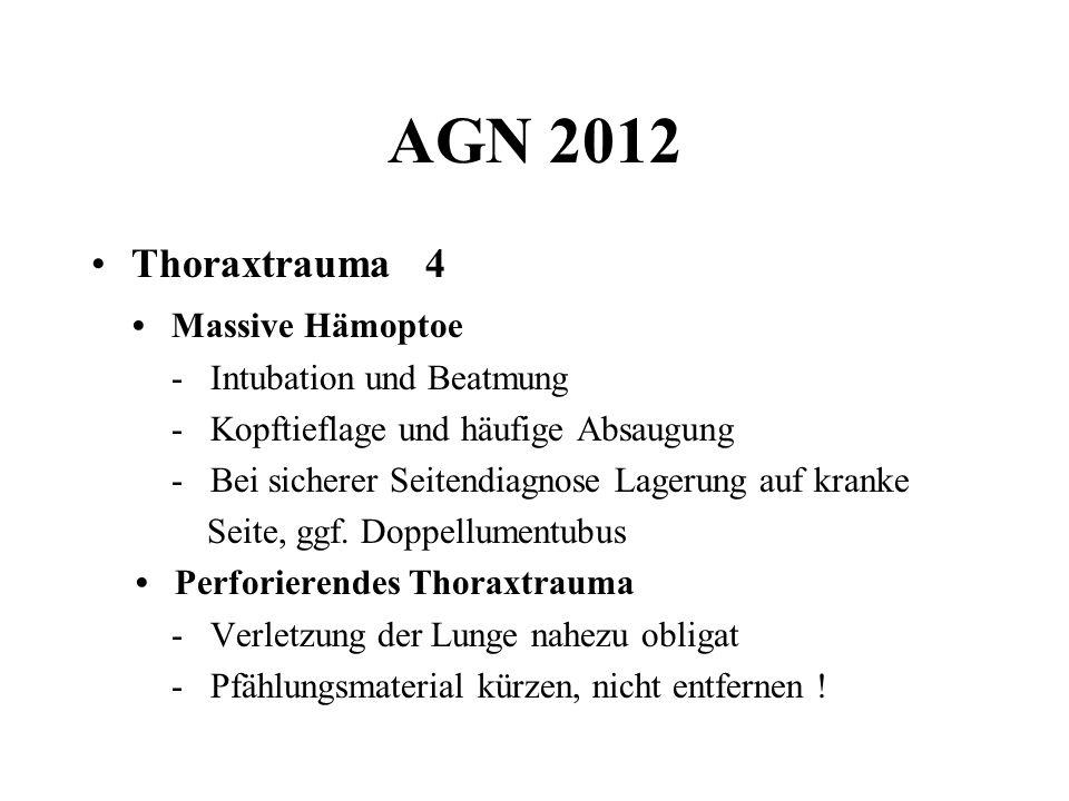 AGN 2012 Thoraxtrauma 4 • Massive Hämoptoe - Intubation und Beatmung