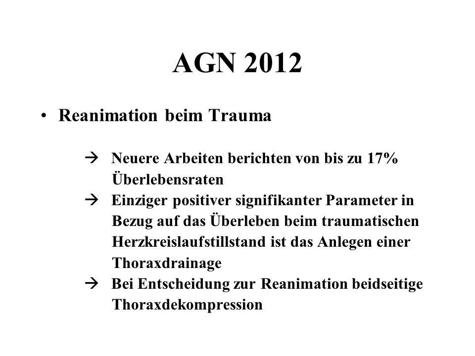 AGN 2012 Reanimation beim Trauma