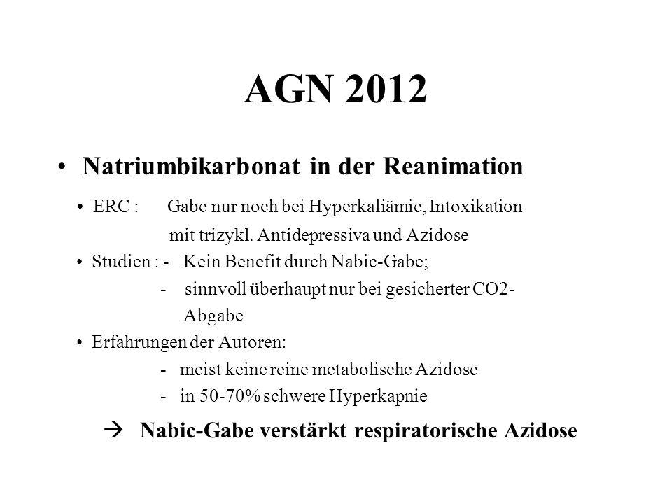 AGN 2012 Natriumbikarbonat in der Reanimation