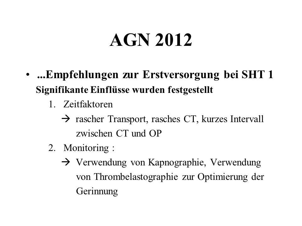 AGN 2012 ...Empfehlungen zur Erstversorgung bei SHT 1