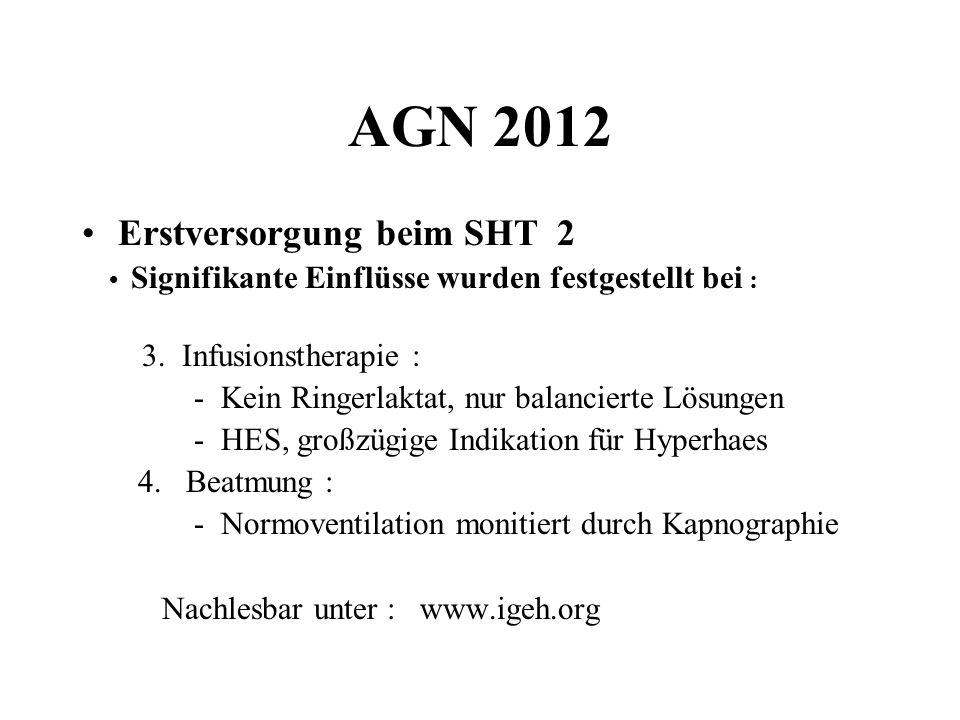 AGN 2012 Erstversorgung beim SHT 2