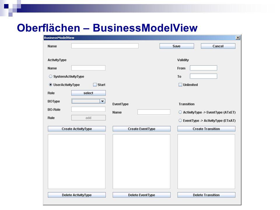 Oberflächen – BusinessModelView