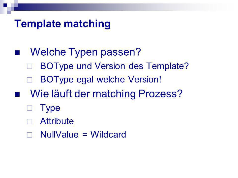 Wie läuft der matching Prozess